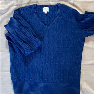 St. John's Bay Cable knit V neck Sweater.